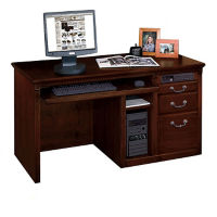 """Computer Single Ped Desk 56"""" x 26"""", D35043"""