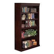 "Five Shelf Traditional Bookcase - 60"" H, B23016"