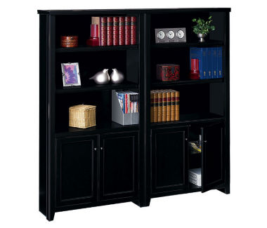 "10 Shelf Bookcase with Doors Set - 70"" H, B32163"