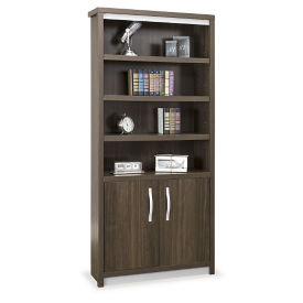 "78""H Six Shelf Bookcase with Doors, B30194"