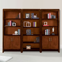 "Lancaster Full Wall Bookcase Set - 96""W, D35356"