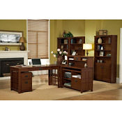 Mission Style Home Office Grouping, D35311