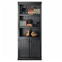 Distressed Bookcase with Doors, B30377