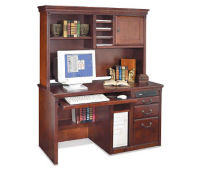"Small Office Desk with Hutch - 25""D x 56""W, D35301"