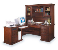 Left Return L-Desk with Hutch, D30112