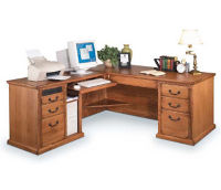 L-Desk with Left Return, D30117