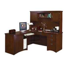 Left Return L-Desk with Hutch, D35309