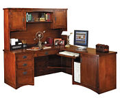 Right L-Desk with Hutch, D35306