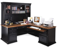L Desk with Hutch Right Return, D35063