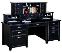 "Desk with Two Hutches - 68.25""W x 32""D, D35324"
