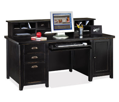 Computer Desk and Hutch Set, D35073