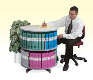 Two Tier Binder Carousel without Top, B34489