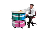 Two Tier Binder Carousel, B34491