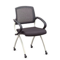 Fabric Nesting Chair with Mesh Back, C60207