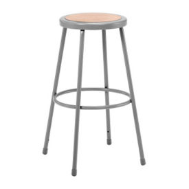 "30""H Stool with Masonite Seat, C70435"