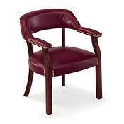 Set of Four Vinyl Captain Chairs, C80355