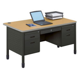 "60"" Double Pedestal Desk, D35083"