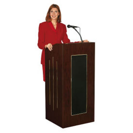 Rolling Sound Lectern with Wired &  Wireless Microphone, M10111