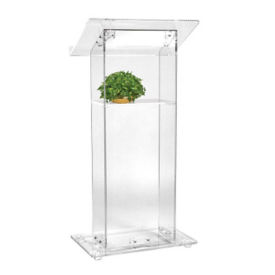 Acrylic Lectern with Shelf, M13139