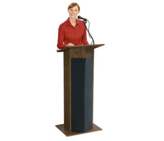 Floor Standing Lectern with Microphone, M10094