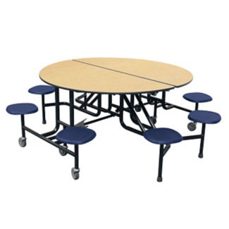 "Round Eight Seat Mobile Cafeteria Table - 27""H, K10041"