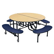 "Round 4 Bench Mobile Cafeteria Table - 29""H , K10044"