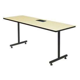 "Training Table with Dataport Module - 24"" x 72"", T11473"