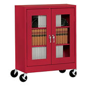 """ClearView Mobile Cabinet 36"""" Wide x 24"""" Deep x 48"""" High, D31139"""