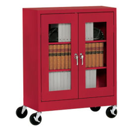"ClearView Mobile Cabinet 46"" Wide x 18"" Deep x 48"" High, D31140"