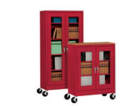 """ClearView Mobile Cabinet 46"""" Wide x 24"""" Deep x 78"""" High, D31145"""