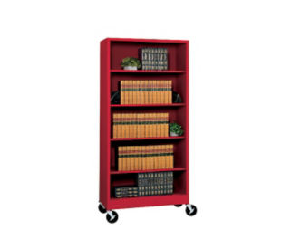 "Bookcase with Wheels 78"" High, D32132"