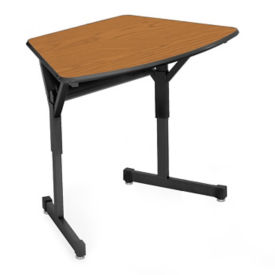 "Arc Shape School Desk - 22""D, D35341"