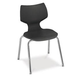 "12""H Sculpted-Back Student Stack Chair, C67771-1"