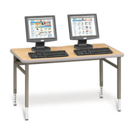 "Adjustable Height Computer Table - 60""W x 24""D, E10178"