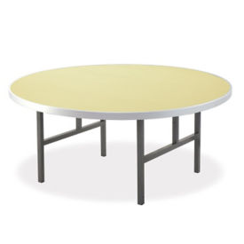 "Aluminum Folding Table with H Style Legs 60"" Diameter, T10824"