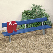 Aluminum Bench with Permanent Mount 6' Long, V21884