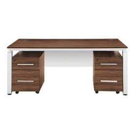 "Double Pedestal Executive Desk - 71"" W, D35246"
