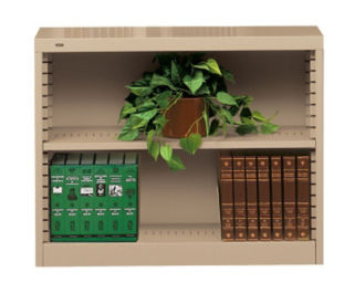 Steel Bookcase with Two Shelves, B30616