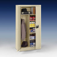"Keypad Lock Storage and Wardrobe Cabinet - 72"" H, B34416"