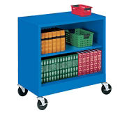"Steel Mobile Bookcase - 37""H, B30338"