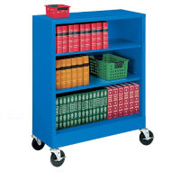 "49"" High Steel Mobile Bookcase, B30339"