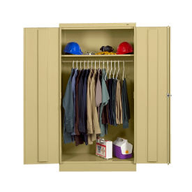 "Keypad Lock Janitor Storage Cabinet - 66"" H, B34413"