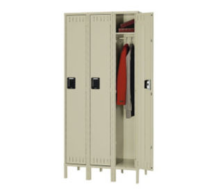 Single Tier Locker 3 Wide With Legs, D23023