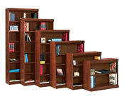 "Traditional Bookcase with Reinforced Shelves - 72""H, B34057"