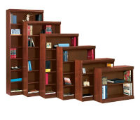 "Traditional Bookcase with Reinforced Shelves - 84""H, B34058"