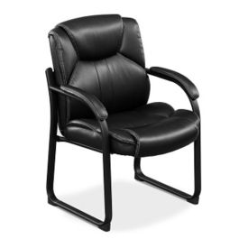 Faux Leather Oversized Guest Chair, C80310-1