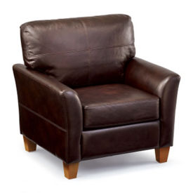 Faux Leather Classic Club Chair, W60823
