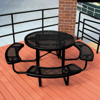 Portable Outdoor Round Table and Perforated Pattern, T10872