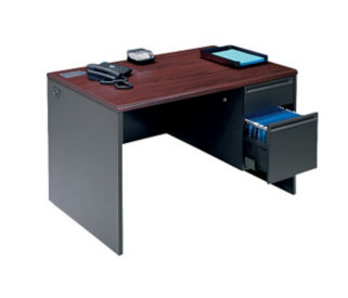 "Steel Single Pedestal Desk 48""W x 30""D, D30078"
