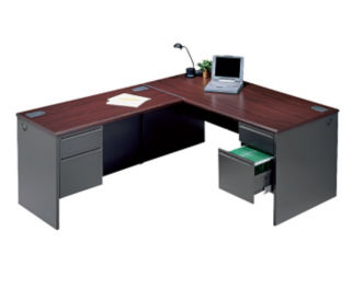 Steel L-Desk with Left Return, D35004